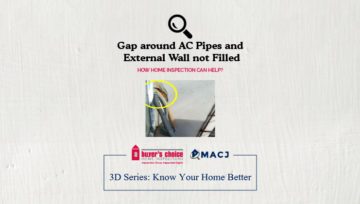 Gap around AC Pipes and External Wall not Filled