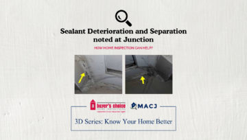 Sealant Deterioration and Separation noted at Junction