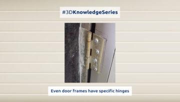 Even door frames have specific hinges