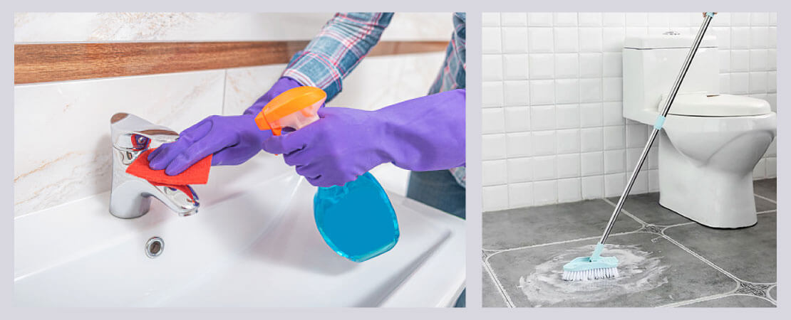 Regular cleaning and sanitising of bathroom is very important