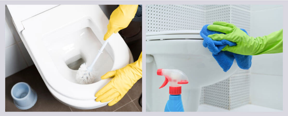 Be careful about cleanliness of the toilet bowl, as it is main reason behind unpleasant odour in bathroom.