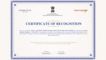 Certificate of Recognition - Startup India