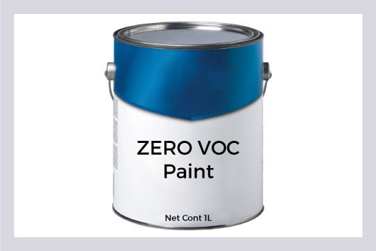 Choose your paint with low or zero VOC to keep home safe from its harmful vapours.