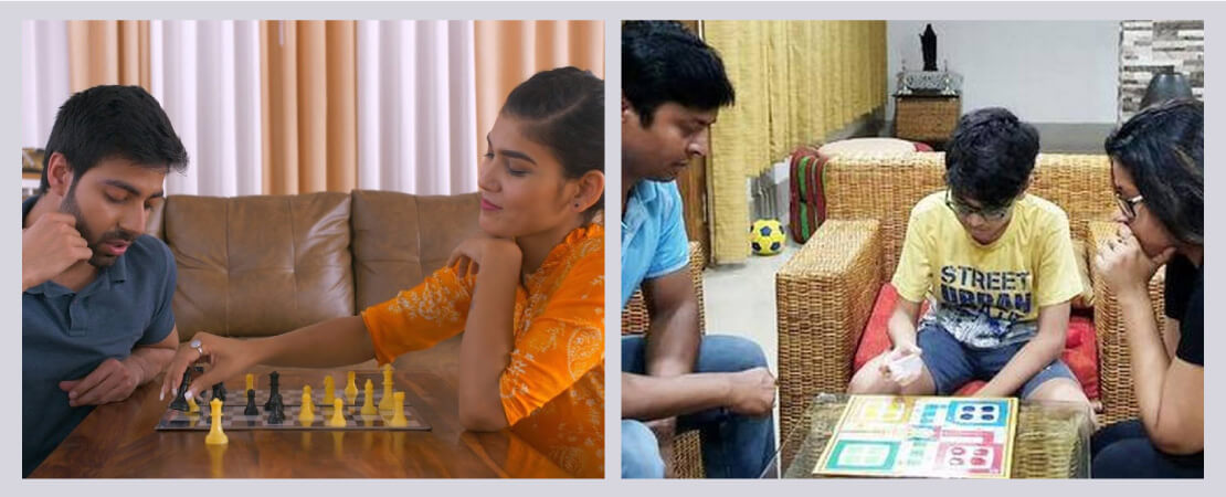 Play indoor games to ensure stress-free mind.