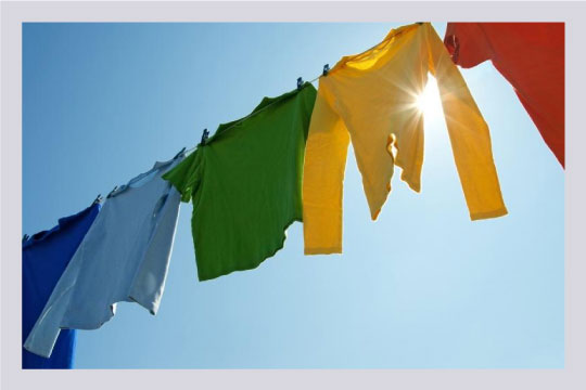 Drying our clothes in the sun instead of dryer cuts down our dependency on electricity.