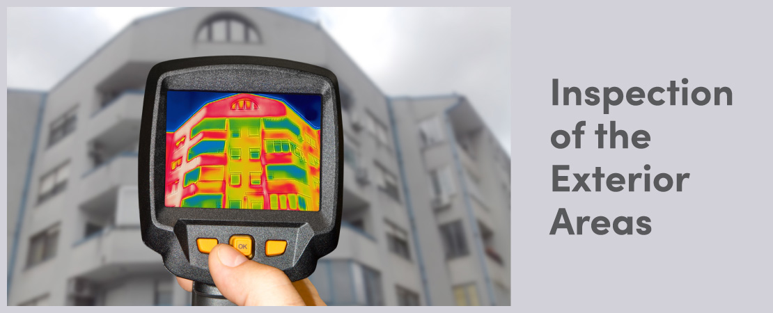 The Home Inspection service looks for any damage to the exterior facade of the house.