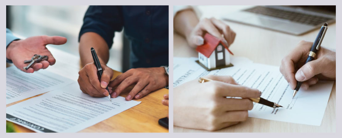 Ask for the documents which show clearly that the current owner has the legal rights of the land and the house.
