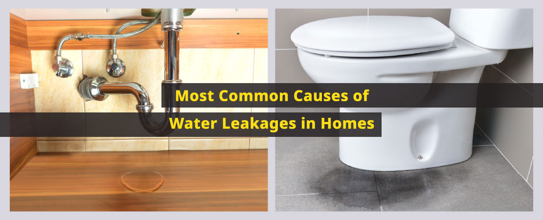 Water leakage can cause serious damage including health problems in a house. Know common causes of water leakages in homes.